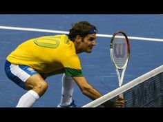 Roger Federer - Top 10 Exhibition Points - YouTube