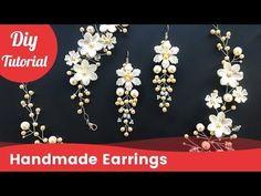 How to Make Bridal Earrings. Easy & Quick Wedding Pearl Earrings. DIY Craft Idea. - YouTube