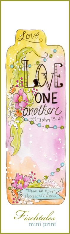 Love One Another Mini Print Bible Journaling by fischtaledesigns