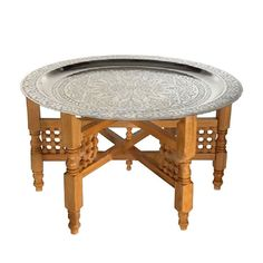 Handmade Moroccan Tea Table | dotandbo.com  #Morocco is the setting of Garment of Shadows by Laurie R. King, a Mary Russell and #Sherlock Holmes mystery.