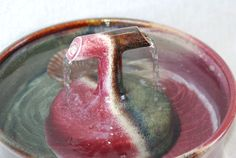 "Cat Drinking Fountain - Ceramic Pet Fountain - Indoor Fountain - 10 - ""Janus Zen"""