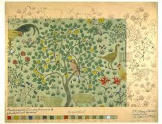 I wonder what the designers of the past could do with Illustrator, Photoshop, vector graphics??  Voysey, Morris Crane and others were geniuses.  C.F.A. Voysey, 'In my Orchard'