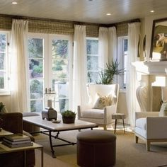 Window Treatment Ideas For Large Windows Design Pictures Remodel And Decor Muslin