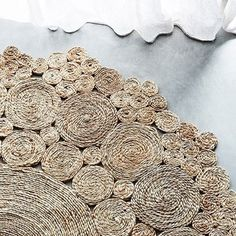 100cm diameter hemp hand woven rug please note there is a 30 day production time on this hand woven item machine woven is 15 days if preferred