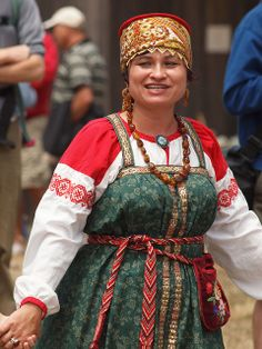 Fort Ross: Woman wearing Traditional Russian Costume by Franco Folini, via Flickr
