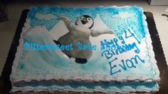 """Happy Feet"" Birthday Cake Bittersweet Bake Shoppe Tyngsboro, Massachusetts"
