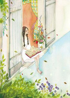 Abrimos la ventana para que vuele la lectura (ilustración de Li Dandan)