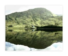 """""""Green Reflections Connemara Ireland"""" - Art Print by Eva Marion in beautiful frame options and a variety of sizes."""