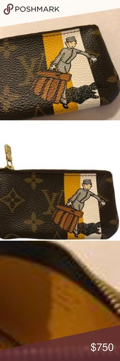 Louis Vuitton Monogram Groom Cles Coin Key Pouch Louis Vuitton Monogram Groom Cles Key Holder  Ultra-Rare collection from 2006 - Immediately sold out worldwide!   Inspired by 1920's Vuitton advertising, grained leather interior lining in yellow, golden brass hardware with locking clasp, logo zipper pull.   Brand new, never used with dust bag, box and ribbon! Louis Vuitton Accessories Key & Card Holders
