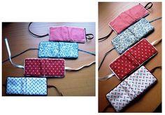 Poniendo Orden: Guarda-agujas Pretty Notes, Cute Embroidery, Needle Book, Sunglasses Case, Diy, Sewing, Bags, Ideas Creativas, Ribbons