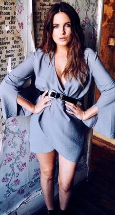 #summer #outfits Grey Wrap Dress