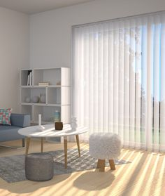 ᐅ Store californien sur mesure, store vertical pas cher - Stores Discount Patio Door Curtains, Home Curtains, Curtains With Blinds, Store Lamelle, Curtain Alternatives, Kitchen Blinds, Japanese Interior, Wall Design, Home Projects