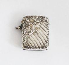 1900s Antique French Vesta Case Match Safe Pill by GrandpasMarket