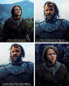Arya & The Hound 4x03 - Ouch that was harsh but true...