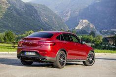 De Mercedes GLC-klasse Coupé in volle glorie in Italië, 350d officieel