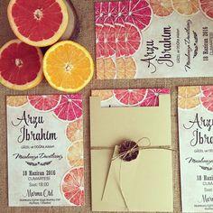 Davetiye / Wedding invitation www.masalsiatolye.com #masalsiatolye #davetiye #weddinginvitation #vintage #portakal  #orange