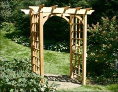 I would love to have an arbor like this in my yard...now if I knew someone who could get me lumber...