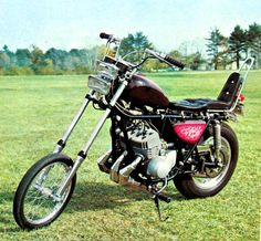 Kwaka 750 'Widowmaker' in chopper form - from the pages of 70's BIG BIKE Magazine