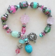 My designer jewelry artisan lampwork bracelets and lampwork necklaces feature one of a kind handmade lampwork beads, sterling silver, Swarovski crystals, and top quality gemstone beads Beaded Jewelry Designs, Necklace Designs, Necklace Ideas, Diy Schmuck, Schmuck Design, Jewelry Crafts, Jewelry Bracelets, Bead Jewelry, Pandora Jewelry