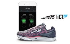 The Altra IQ smart running shoes have embedded sensors that connect to your smartphone or smartwatch, and bring advanced metrics to make you a better and safer runner.. #smartclothes #wearabletech