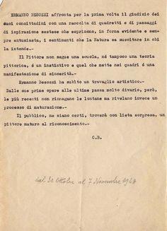1948 Testo critico di Carlo Bruscherini