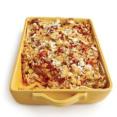 Mexican Chicken Casserole with Charred Tomato Salsa - Healthy Chicken Casseroles - Cooking Light