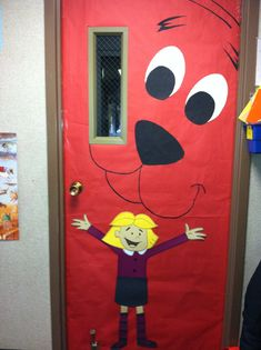 March reading month door book idea. Clifford the Big Red Dog done by K Ollar