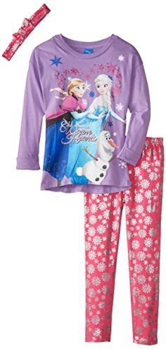 Disney Little Girls' Frozen Purple Tunic Legging Set