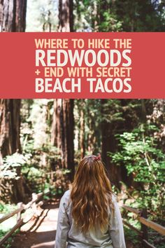 Hike Californian Redwoods and end at the beach for secret tacos that only locals know about! Tips for Muir Woods and visiting Stinson Beach for the best redwoods hike in California. #redwoods #hike #hiking #secretplaces