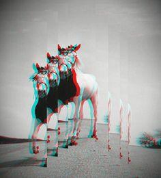 #astray #horse #glitchart