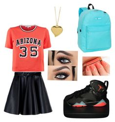 School Girl by shiraboo on Polyvore featuring polyvore, fashion, style, Maje, MSGM, NIKE, Everest, West Coast Jewelry, Tom Ford and clothing