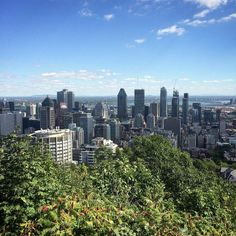 Hey look it's Montreal. Nice view eh? #Montreal #cityscape #city #mountainview #montrealcity #view #travel #traveler #traveling #travelphotography #travelersnotebook #travelgram #traveller #mountroyal