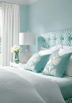 Thinbaut Designs | Bedroom | Color Palette: Aqua Blue White