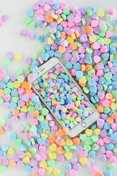 #ProperPrintables \\ Conversation Hearts Wallpaper Download