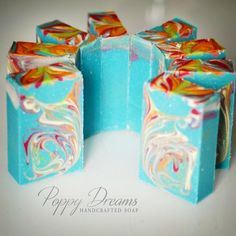 Freshly cut Passionate Kisses Handmade Artisan Soap