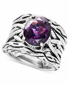 Balissima by Effy Collection Sterling Silver Amethyst Weave Band Ring (4-1/10 ct. t.w.) - Specials - Jewelry & Watches - Macy's