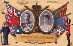 Coronation Souvenier of 1911 King Georges V. and Queen Mary