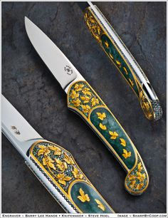 The Siberian, A knife by STeve Hoel, engraved by Barry Lee Hands