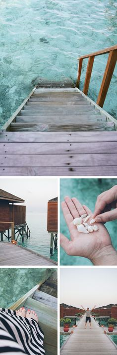 steps from jacuzzi water villa in meeru island resort in the maldives (photos by claire dalgliesh of fellow fellow)