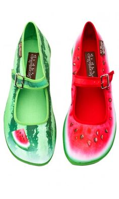 WATERMELON MARY JANE SHOES by hot chocolate design shoes