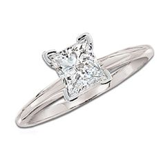 1-1/2 CT. Princess Cut Certified Diamond Solitaire Engagement Ring in 14K White Gold - Originally $11,119.00, Now $9,999.99