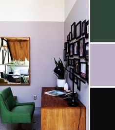 10 Colorful Workspaces to Inspire Your Home Office: Lilac and Emerald