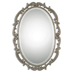 Check out this item at One Kings Lane! Franklin Wall Mirror, Silver Leaf