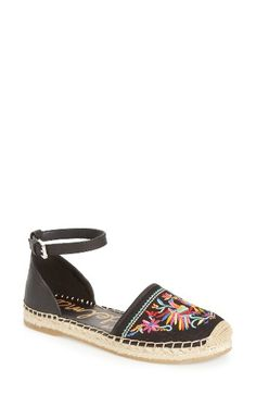Free shipping and returns on Sam Edelman Jemmie Peacock Embroidered  Espadrille (Women) at Nordstrom