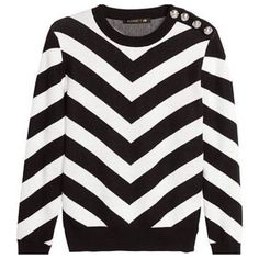 Balmain X H&M Sweater Black White Stripped XS NWT Brand new with tags. Garment bag included ❌ sorry no trades - price is firm even if bundled ❌ Balmain Sweaters