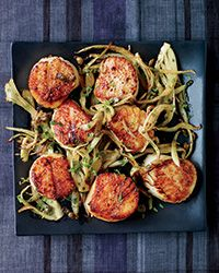 Scallops with Fennel Grenobloise (Recipe on Food & Wine).  Oh, my! This sounds delicious - Ill give it a go and let you know!