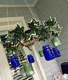 Glue 2 hula hoops together to copy this gorgeous idea for your porch