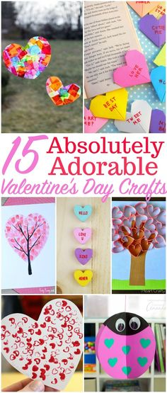 Looking for something simple for your Valentine's Day Party?  These crafts are fun to make - and the kids will love them! #craftsforkidstomake