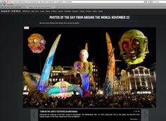 NY Daily News - Turn on the lights 2013 #Bijenkorf