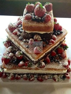 Tin man sweets square naked wedding cake